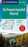 KOMPASS Wanderkarte Schwarzwald Nord
