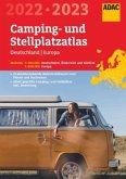 ADAC Camping- und StellplatzAtlas2022/23 Deutschland 1:300 000, Europa 1:800 000