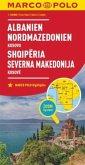 MARCO POLO Länderkarte Albanien, Nordmazedonien 1:500 000