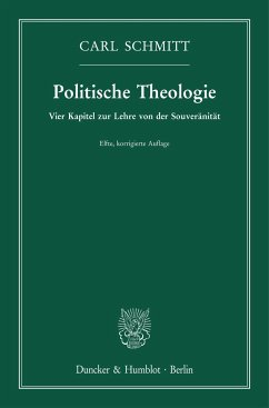 Politische Theologie. - Schmitt, Carl