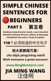 Simple Chinese Sentences for Beginners (Part 5): Reading Comprehension Guide, Learn Essential Mandarin Chinese Phrases, Idioms, and Meanings (Simplified Characters, Pinyin & English) (eBook, ePUB)