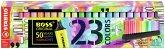 Textmarker - STABILO BOSS ORIGINAL - 23er Tischset - 9 Leuchtfarben, 14 Pastellfarben