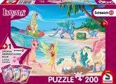 Schmidt 56397 - Schleich, Bayala, Dracheninsel, Puzzle mit Figur, 200 Teile