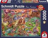 Schmidt 58971 - Steve Sundram, Der Schatz der Drachen, Puzzle, 2000 Teile