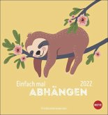 Faultier Postkartenkalender Kalender 2022