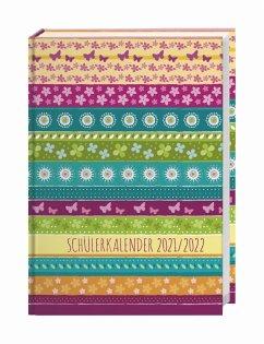 Streifen Floral Schülerkalender A5 Kalender 2022