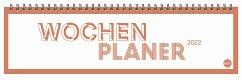 Neon Orange Wochenquerplaner Kalender 2022