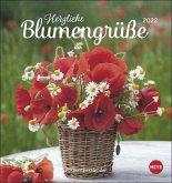 Herzliche Blumengrüße 2022. Postkartenkalender
