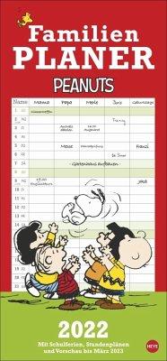 Peanuts Familienplaner - Kalender 2022