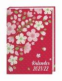Floral 17-Monats-Kalenderbuch A5 - 2022