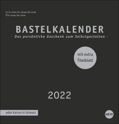 Bastelkalender 2022 schwarz, mittel