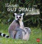 Tierisch gut drauf 2022 Postkartenkalender