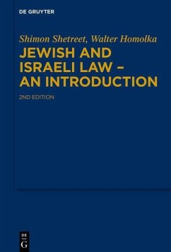 Jewish and Israeli Law - An Introduction - Shetreet, Shimon;Homolka, Walter