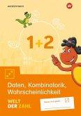 Welt der Zahl 1 / 2. Arbeitsheft Daten, Kombinatorik, Wahrscheinlichkeit. Allgemeine Ausgabe