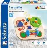 Selecta 61067 - Carusello, Motorikbrett für unterwegs, ca. 19 cm, Holz