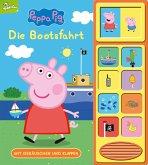 Peppa Pig - Die Bootsfahrt - Klappen-Geräusche-Buch mit 10 Sounds - Pappbilderbuch für Kinder ab 3 Jahren