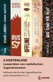 5 kostenlose Leseproben von realistischen Jugendromanen (eBook, ePUB)