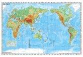 Weltkarte pazifikständisch physisch