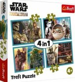 4 in 1 Puzzle - Star Wars Mandalorian (Kinderpuzzle)
