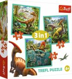 3 in 1 Puzzle - Dinosaurier (Kinderpuzzle)