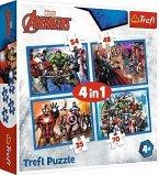 4 in 1 Puzzle - Avengers (Kinderpuzzle)