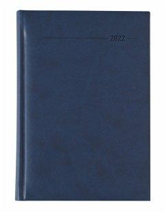 Buchkalender Tucson blau 2022 - Büro-Kalender A5 - Cheftimer - 1 Tag 1 Seite - 352 Seiten - Tucson-Einband - Termin-Planer - Alpha Edition