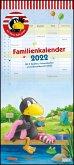 Der kleine Rabe Socke Familienkalender 2022 - Wandkalender - Familienplaner mit 5 Spalten - Format 22 x 49,5 cm