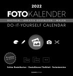 Foto-Bastelkalender schwarz 2022 - Do it yourself calendar 21x22 cm