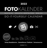 Foto-Bastelkalender schwarz 2022 - Do it yourself calendar 32x33 cm