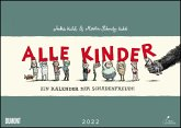 Alle Kinder 2022 - Freche Alle-Kinder-Witze - Illustriert von Anke Kuhl - Für Kinder und Erwachsene - Wandkalender - Format 42 x 29,7 cm