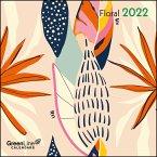 GreenLine Floral 2022 - Wand-Kalender - 30x30 - 30x60 geöffnet