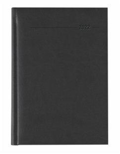 Buchkalender Tucson schwarz 2022 - Büro-Kalender A5 - Cheftimer - 1 Tag 1 Seite - 352 Seiten - Tucson-Einband - Termin-Planer - Alpha Edition