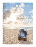 Ladytimer Ringbuch Beach 2022 - Taschen-Kalender A5 (15x21 cm)