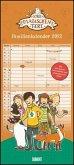 Schule der magischen Tiere Familienkalender 2022 - Wandkalender - Familienplaner mit 5 Spalten - Format 22 x 49,5 cm