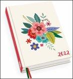 Blumenwiese Taschenkalender 2022 - Blumen-Design -Terminplaner mit Wochenkalendarium - Format 11,3 x 16,3 cm