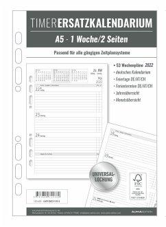 Timer Ersatzkalendarium A5 2022