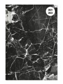 Collegetimer Black Marble 2021/2022 - Schüler-Kalender A5 (15x21 cm)