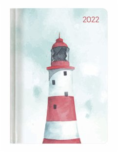 Ladytimer Pastel Lighthouse 2022 - Leuchtturm - Taschenkalender A6