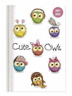 Collegetimer Cute Owls 2021/2022 - Eule - Schülerkalender A6