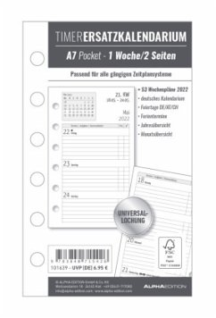 Timer Ersatzkalendarium A7 Pocket 2022