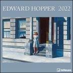 Edward Hopper 2022 - Wand-Kalender - 30x30 - 30x60 geöffnet