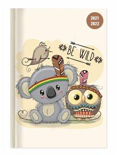 Collegetimer Be Wild! 2021/2022 - Schüler-Kalender A5 (15x21 cm) - Day By Day - 352 Seiten - Terminplaner - Notizbuch - Alpha Edition