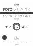 Foto-Bastelkalender weiß 2022 - aufstellbar - Do it yourself calendar 15x21 cm