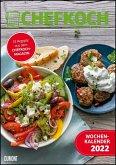 Chefkoch Wochenkalender 2022 - Küchen-Kalender mit 53 Rezepten - Format 21,0 x 29,7 cm - Spiralbindung