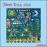 James Rizzi 2022 - Wand-Kalender - 30x30 - 30x60 geöffnet