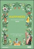 Happiness 2022 - Wochenkalender mit Illustrationen und Texten - Zum Aufhängen - DIN A4 - Spiralbindung