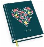 Taschenkalender »Chrysanthemen« 2022 - Terminplaner mit Wochenkalendarium - Format 11,3 x 16,3 cm
