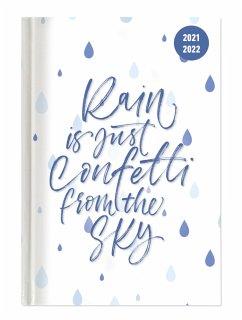 Collegetimer Confetti 2021/2022 - Schüler-Kalender A5 (15x21 cm) - Spruch - Day By Day - 352 Seiten - Terminplaner - Notizbuch - Alpha Edition