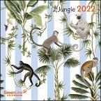 GreenLine Jungle 2022- Wand-Kalender - 17,5x17,5 - 17,5x35 geöffnet