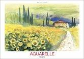 Aquarelle 2022 - Bild-Kalender 48,5x34 cm